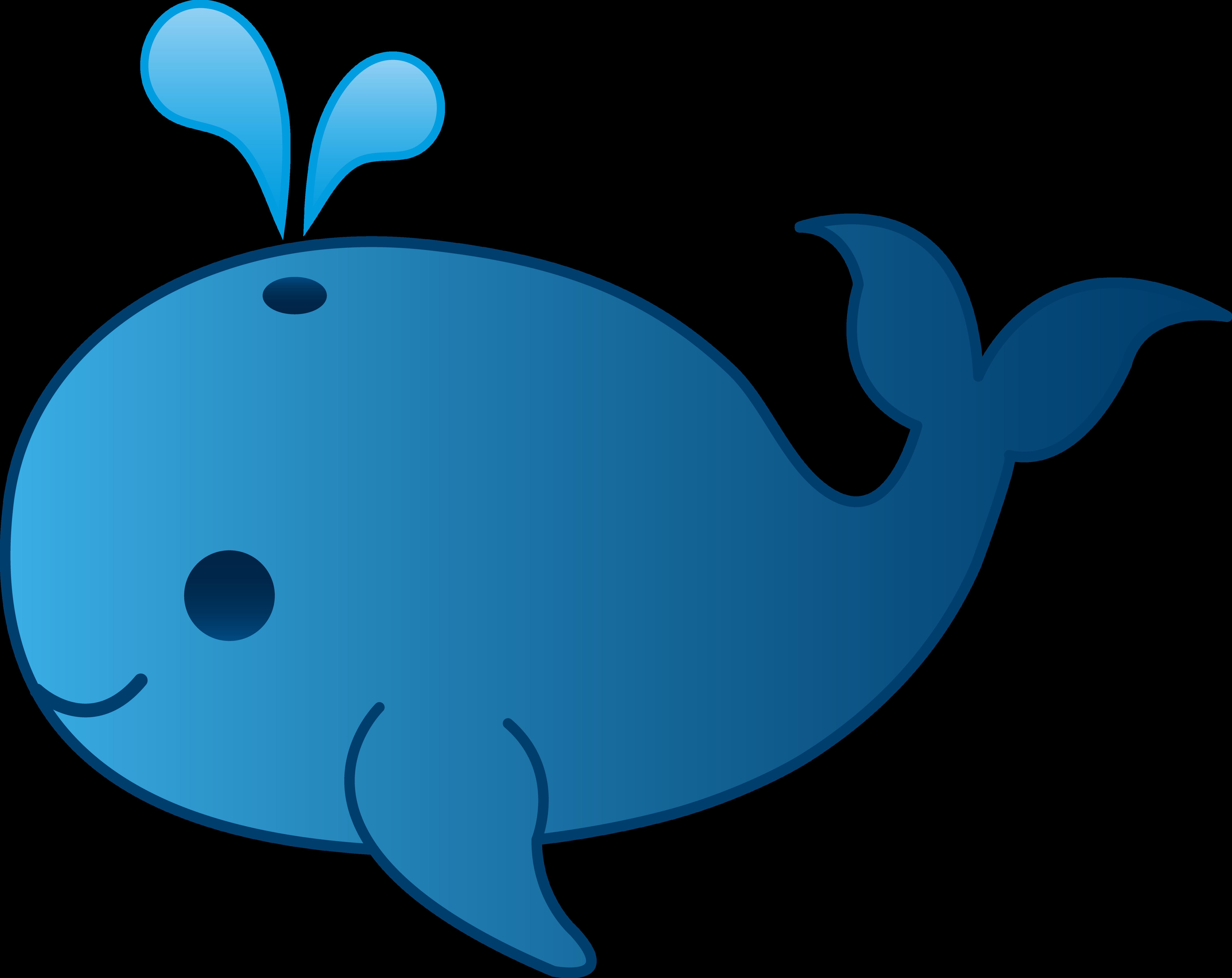 Blue Whale clipart comic — Clip Cartoon Clipart Whale