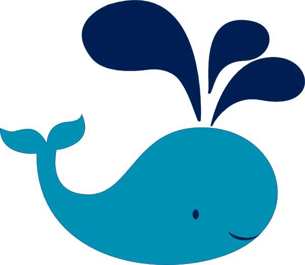 Blue Whale clipart beluga whale Art as: at Navy image