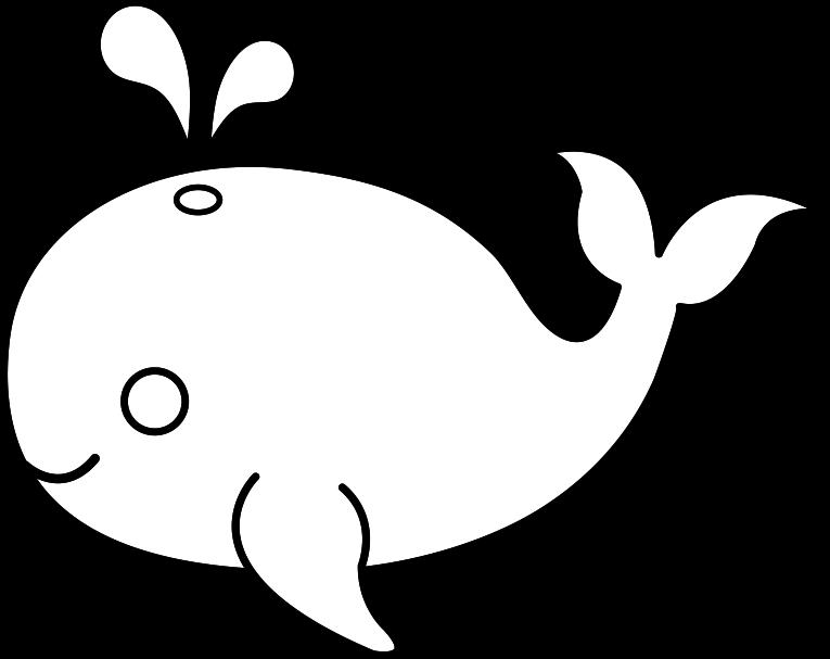 Blue Whale clipart printable White Art Pages Art Clip