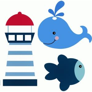Blue Whale clipart stencil Fisch Entwurf # Silhouette 44821: