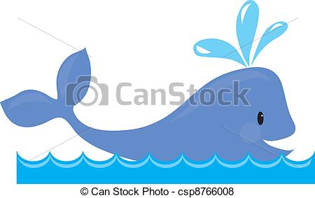 Blue Whale clipart beluga whale Of whale design Vector A