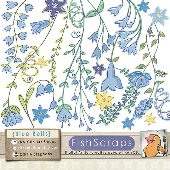 Bluebell clipart british Drawn Hand Like Bell Blue