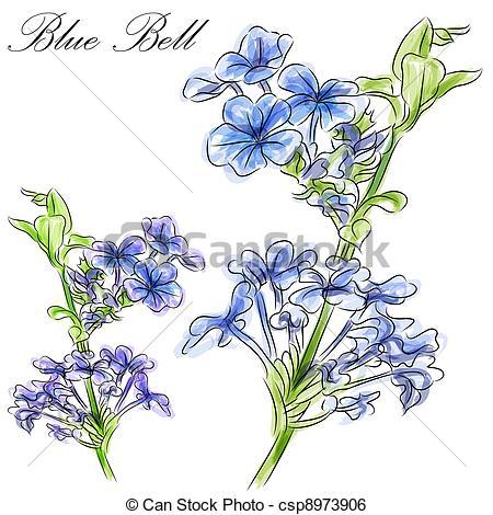 Blue Flower clipart blue bell Art a Flower  csp8973906