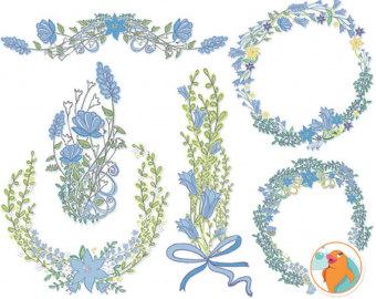Bluebell clipart flower power ClipArt Clip Ocean Blue Wreath