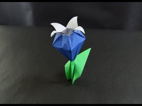 Bluebell clipart border Origami images Flowers fold to