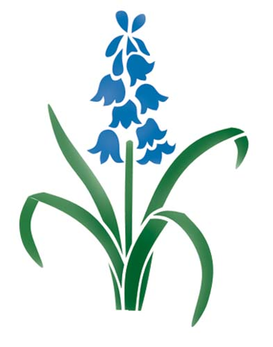 Bluebell clipart single  Stencil Wall Bluebell