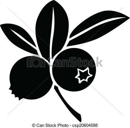 Blueberry clipart black and white And And White white image