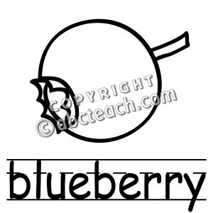 Blueberry clipart black and white Clip Black Clip And Art