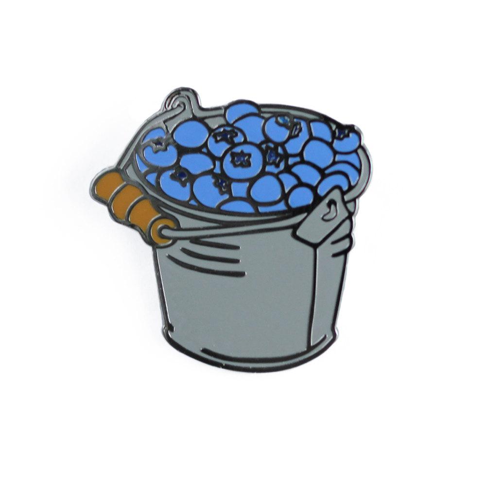 Blueberry clipart bucket Pin Hard Blueberry Lapel Bucket