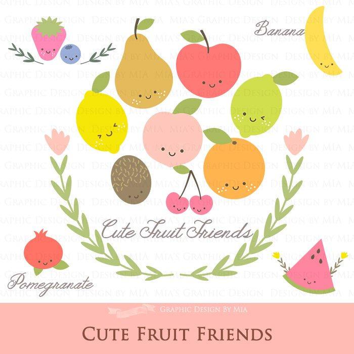 Blueberry clipart cute fruit Like Friends Cute Art Blueberry