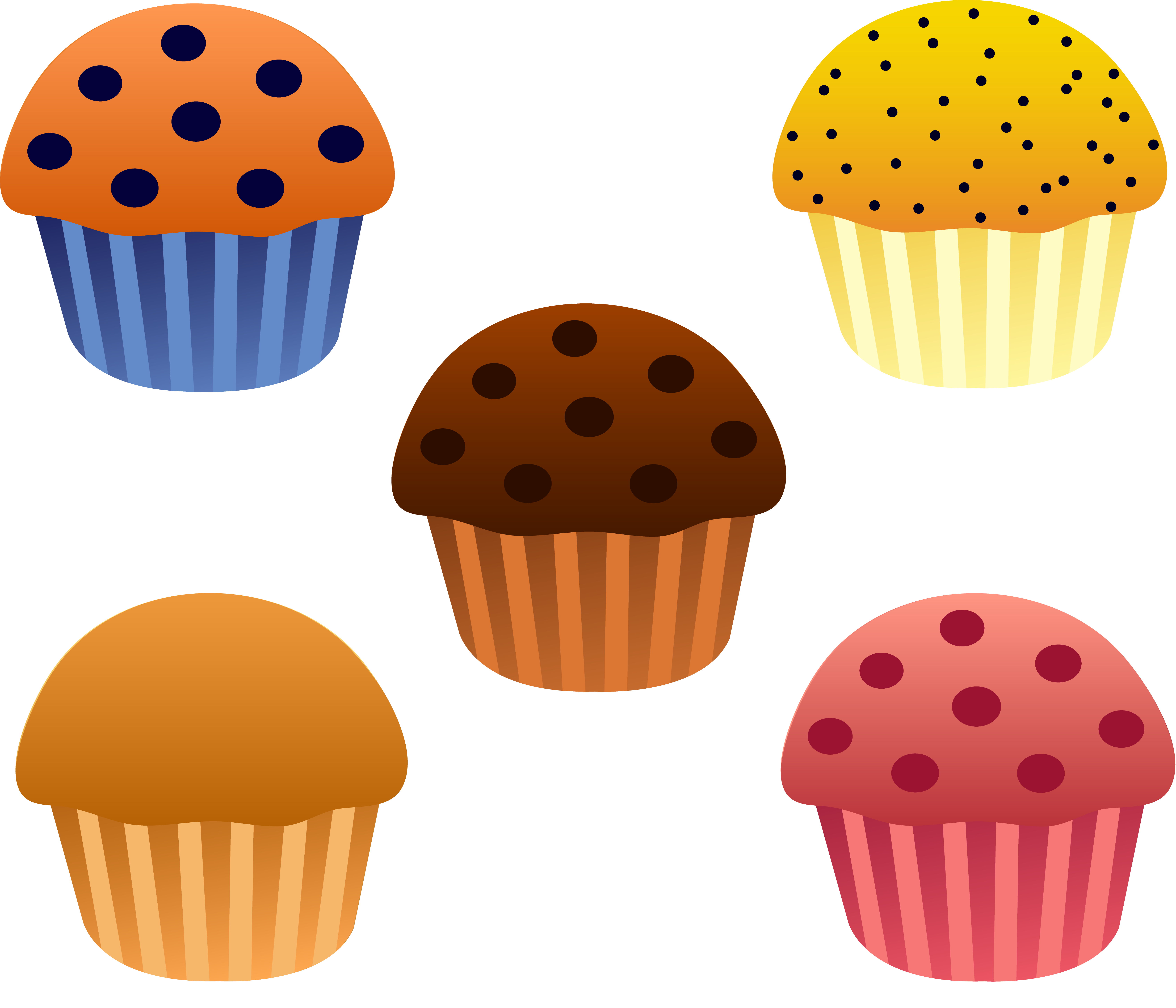 Plate clipart muffin Clipart Free art Blueberry Muffin