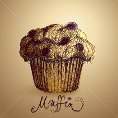 Muffin clipart banana muffin Muffin clipart muffin blueberry sketch