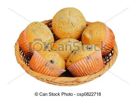 Blueberry Muffin clipart basket  Muffins Basket of csp0822718
