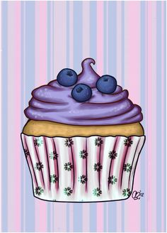 Muffin clipart purple Blueberry cupcake Cupcakes Cupcakes Pinterest