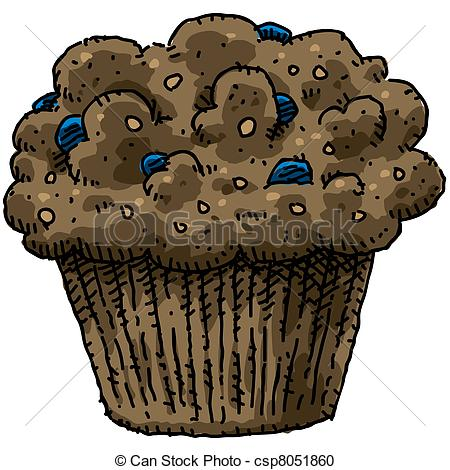 Blueberry Muffin clipart cute Clipart Muffin Bran Blueberry Muffin