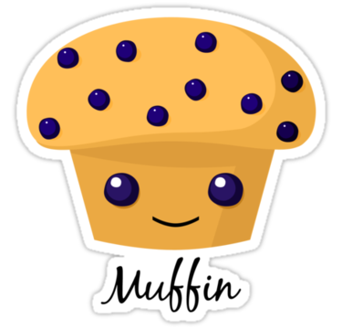 Blueberry Muffin clipart cute Cartoon Muffin Muffin muffin Blueberry