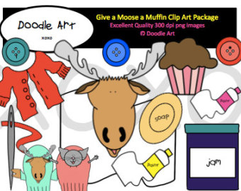 Blueberry Muffin clipart if you give a moose a muffin Pack Etsy a Muffin Clipart