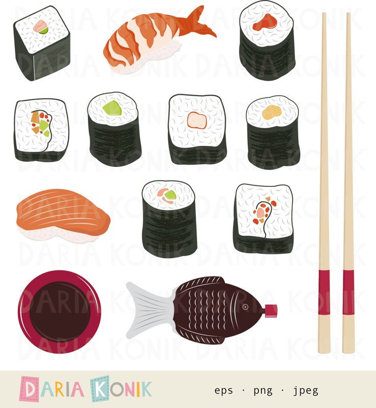 Sushi clipart logo Art Set food  Best