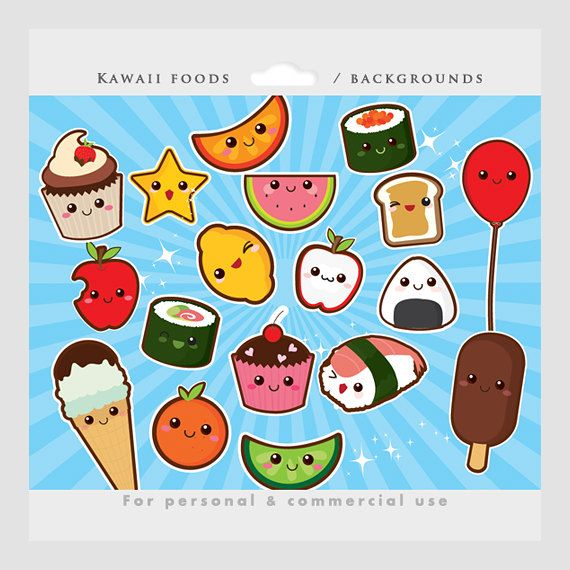 Ice Cube clipart solid Personal Cute kawaii sushi cute