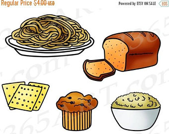 Blueberry Muffin clipart junk food Clipart Digital Food Bread Grains
