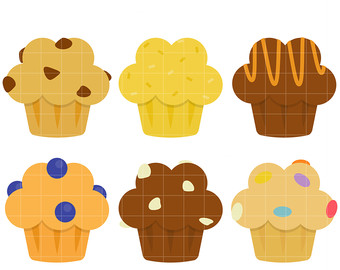 Blueberry Muffin clipart paper For Breakfast Making Toppers Etsy