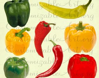 Chili clipart green capsicum Red Pepper Pepper Banana Hot