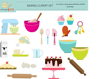 Blueberry Muffin clipart small cake Muffin baking personal Clipart Set