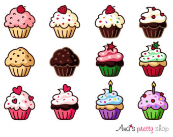 Blueberry Muffin clipart small cake St christmas clipart vector valentines