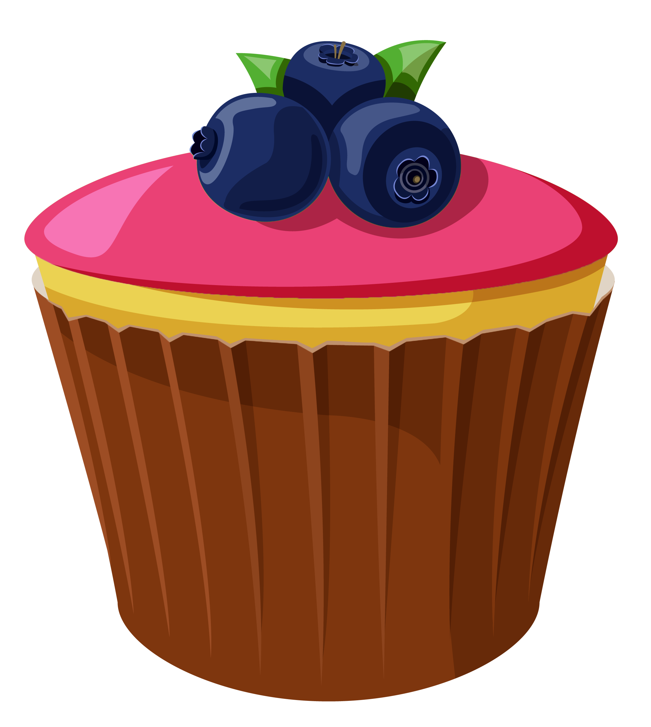 Blueberry Muffin clipart transparent Size Cake full with