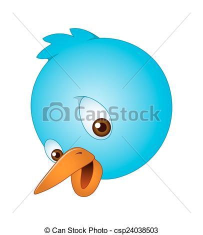 Bird clipart face Csp24038503 Happy Face Blue of