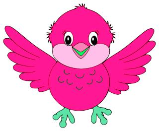 Bird clipart face Bird vector Blue Clker Blue