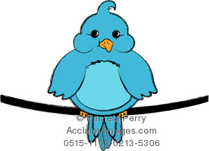 Bluebird clipart blue parrot Illustration Fat of on Sitting