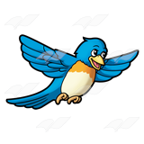 Bluebird clipart flying Abeka Blue Flying Art Blue