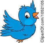 Bluebird clipart flying Little Clip blue bird Clipart