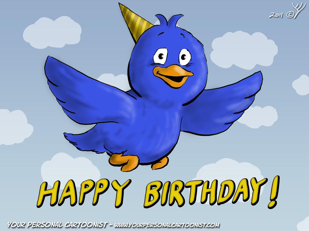 Birthday clipart bird Animated clipart Cartoon bird Your