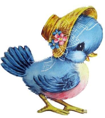 Bluebird clipart mom ~ vintage blue  images