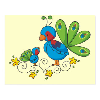 Bluebird clipart mom Peacock Mom and Baby Zazzle