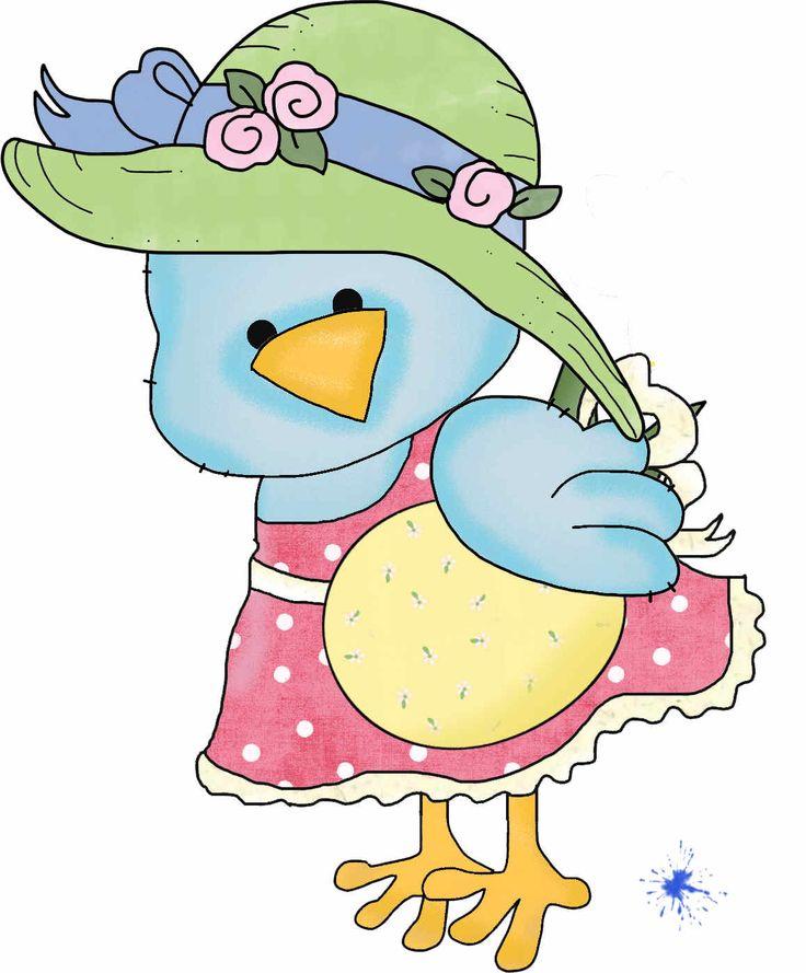 Bluebird clipart spring chick Graphics Drawings Pinterest ArtEaster Bird