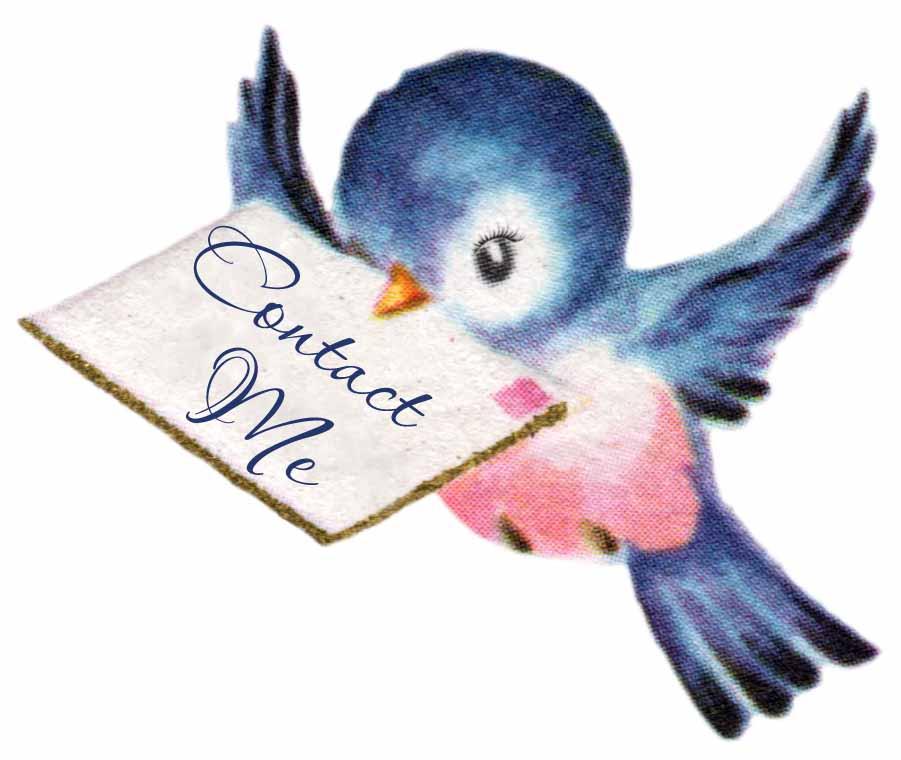 Bluebird clipart vintage Blue Bird  Handmade Clipart