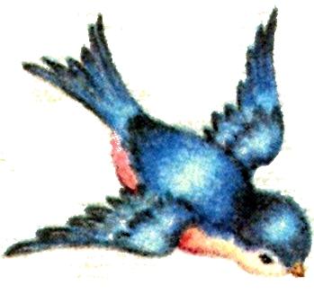Bluebird clipart vintage  Vintage Clipart Bird Blue
