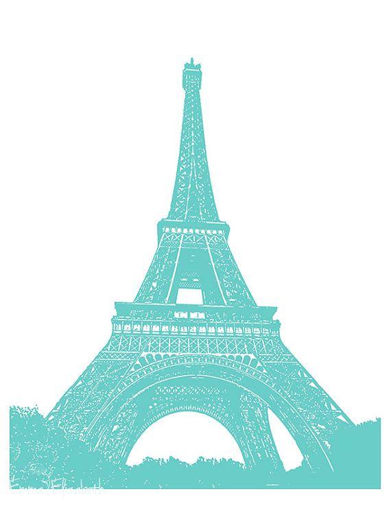 Blur clipart eiffel tower French blue Fleur Paris art