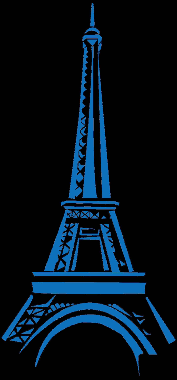 Blur clipart eiffel tower Golden best images Eiffel Blue
