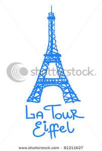 Blur clipart eiffel tower The Clipart Picture Eiffel Blue