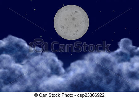 Blur clipart full moon On a sky planet a