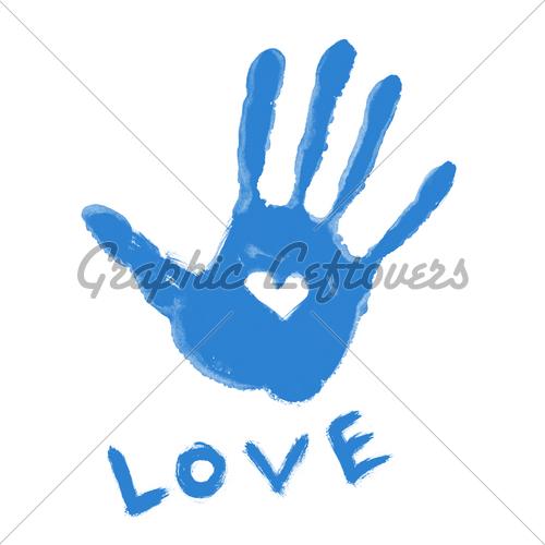 Blur clipart handprint · GL Handprint Symbol ''Love''
