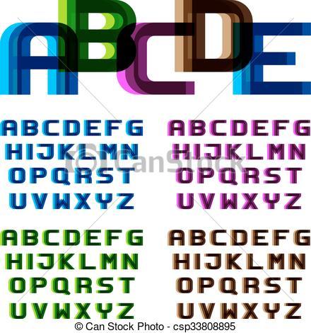 Blur clipart letter a EPS blur letters EPS10 of