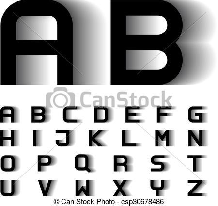 Blur clipart letter a Vector font illustration Vector speed