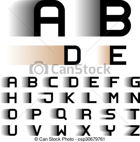 Blur clipart letter a Clip motion alphabet Vector Vector