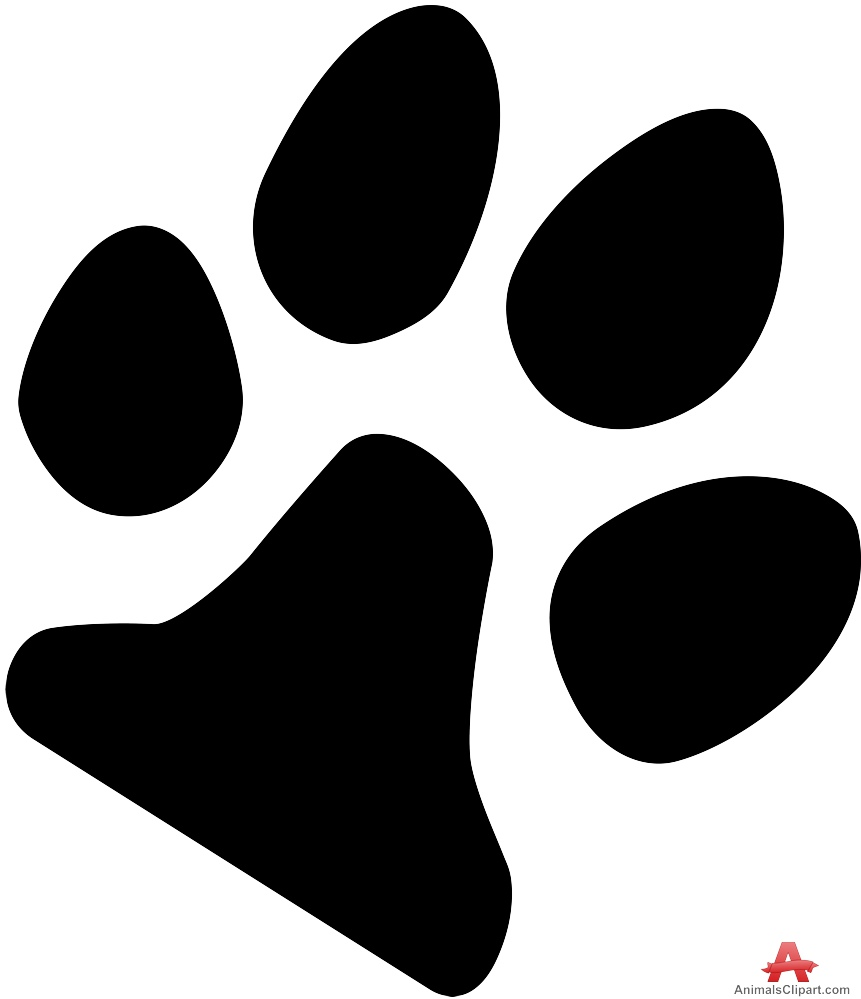 Paw clipart silhouette Silhouette Print Silhouette Paw Design