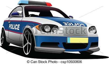 Blur clipart police car  Municipal 910 Stock illustration